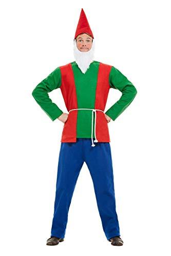 Smiffys 50963M Gnome Costume, Men, Blue & Green, M - Size 38