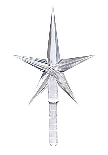 National Artcraft Clear Crystal Stars For Ceramic Christmas Trees (5 Pcs)