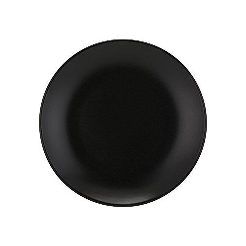 10 Strawberry Street Wazee Matte - 7.75'' Coupe Salad Plate - Set of 6 - Black by 10 Strawberry Street