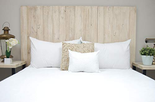 Bedroom Antique White Headboard Full Size Weathered, Hanger Style, Handcrafted. Mounts on Wall. Easy Installation farmhouse headboards