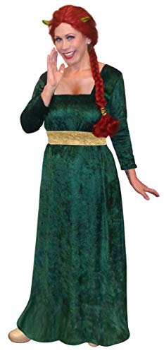 Women's Princess Fiona Shrek Plus Size Supersize Halloween Costume Dress 4x ()