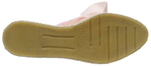 Shoe Pink Velp velvet Espadrilles Women's Biz Light Hansigne rwCZvrUq