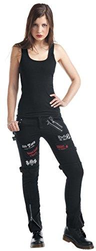 Nero Pantaloni Punk KuroNeko Nero Trousers Donna wqYPnxUOZ