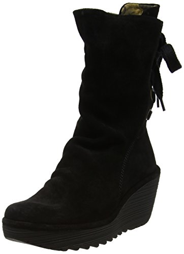 Fly London Yada, Botas Para Mujer Negro (Black)