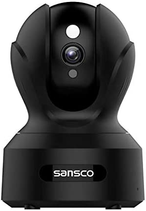 SANSCO 2MP 1920x1080p Indoor Wireless Security Camera Home Monitor WiFi Camera for Pet Baby Surveillance IP Camera with IR Night Vision, Motion Detection Push Alerts and Two-Way Audio Black
