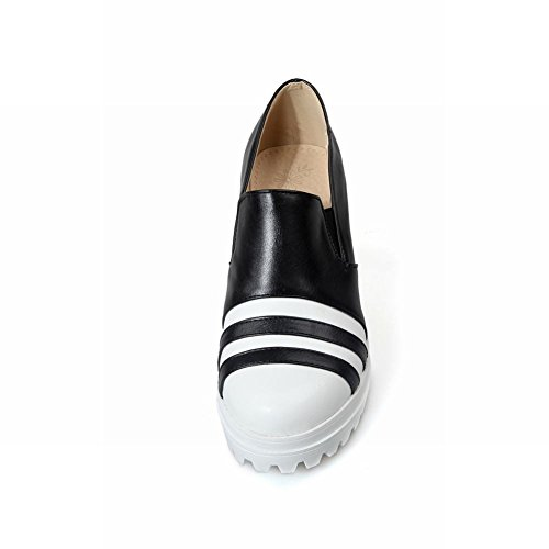 Assorted Wegdge Fashion Womens Black Colors Shoes Carolbar Causal Platform Heel BEAqn