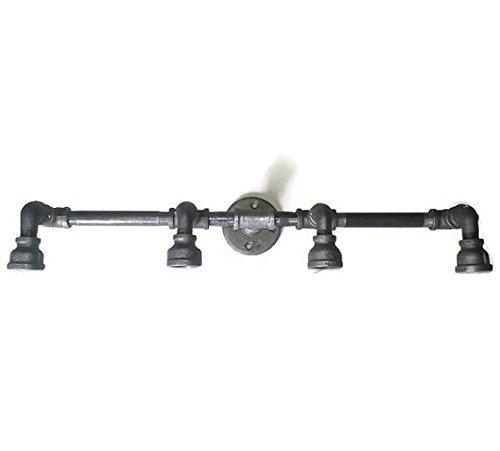 new arrival b2c9e 6634e Amazon.com: Industrial 4 Light Pipe Vanity Light Fixture ...