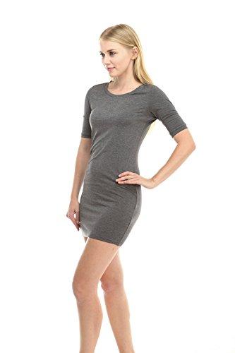 Jersey De Printemps D'été Des Femmes De Vêtements De Mode Casual Carapaces T-shirt Robe De Charbon De Bruyère
