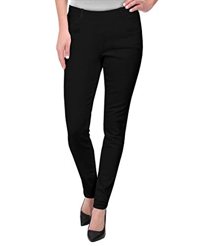 HyBrid & Company Womens Super Comfy Millenium Twill Pants KP47812 Black XL - Blended Twill Pants