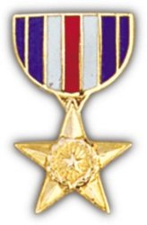 - Silver Star Mini Medal Small Pin