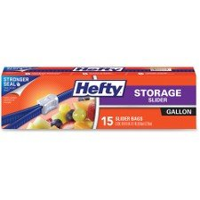 Hefty Slider Storage Bags, Gallon Size, 15 count