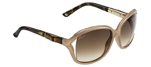 Gucci Women's GG 3671/S Powder/Brown - 61 16 125 Sunglasses