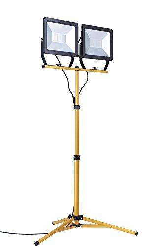 Northpoint LED Baustrahler Arbeitsstrahler mit Stativ Fluter 200W Leistung 16000 Lumen Lichtstrom 160cm Stativ 5m…