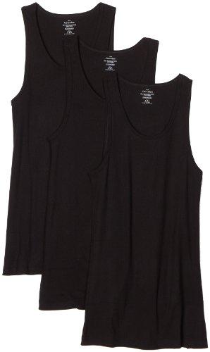 Calvin Klein Men's 3 Pack Basic Tank Top, Black, Medium (Calvin Klein Black Sleeveless Top)