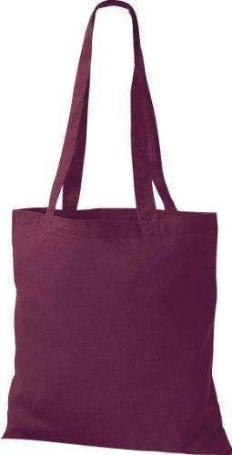 shirtinstyle Premium bolsa de tela bolsa de algodón Bolsa Comprador Bolso de Bandolera De Muchos Colores Borgoña