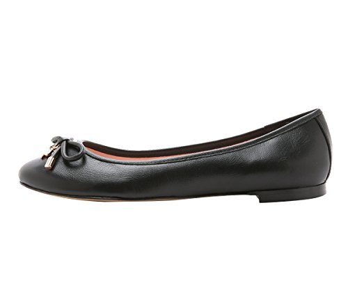 SexyPrey Women's Round Toe Bowknot Flats Shoes Casual Dressy Ballet Shoes Black Pu U6wTJwjVv