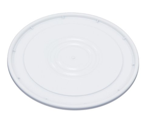 United Solutions PN0009 Plastic Lid for Five Gallon Pail in White-5 Gallon Plastic Bucket Lid in White (Lid Pail)
