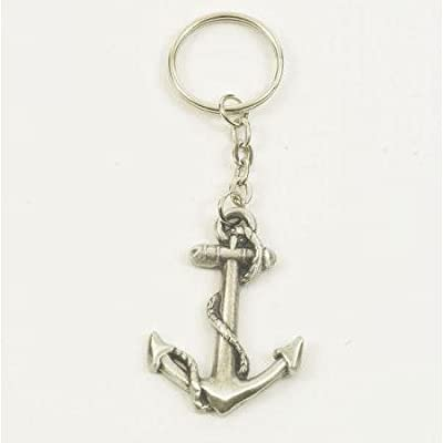 Solid Pewter Anchor Keychain