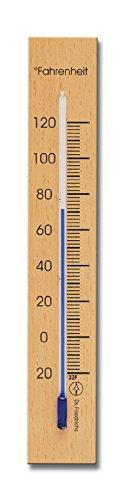 HOKCO Analog Indoor Wall Thermometer Solid Beech Wood 6.75 inch - Indoor Outdoor Beechwood Wall