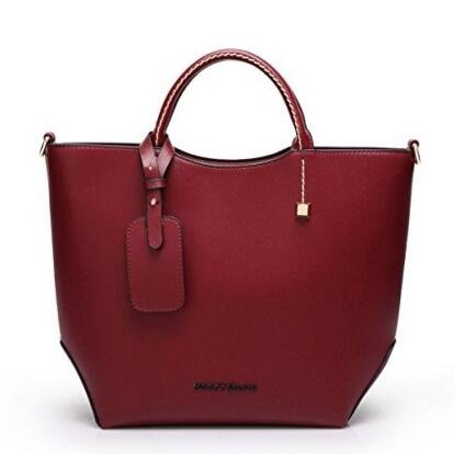 Korean style Women Lady Leather Satchel Handbag Tote Messenger Crossbody Shoulder Bag ,Maroon