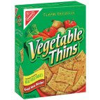 Vegetable Crackers Baked Snack 8 OZ (Pack of 18) by Vegetable Thins