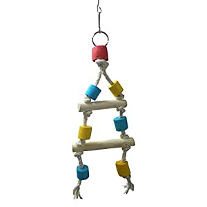 KSK Multicolor Wooden Birds Triangle Ladder