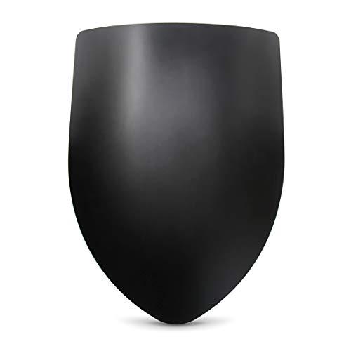 Armor Venue Blank Medieval Shield - 16 Gauge Steel Battle Ready - Black - One Size