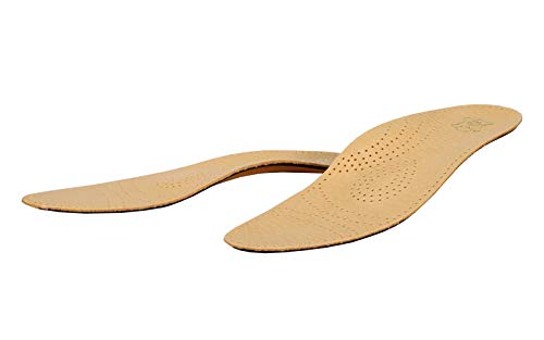 (Orthotic Leather Insoles For Flat Feet and Plantar Fasciitis With Arch Support, Men and Women, Kaps Relax (Women 7 US / 38 EUR))