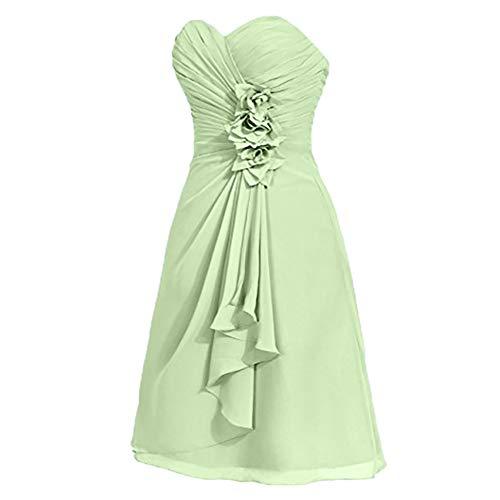 Kurz Gruen Abendkleider Partykleider Chiffon Hell Damen Einfach Charmant Cocktailkleider Mini Brautjungfernkleider 48vw6O4xHq