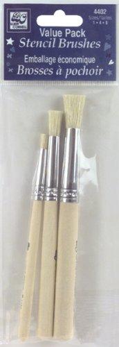 Neww Bristle Stencil Brush Set 3/Pkg-Sizes 1, 4 & 8 Neww