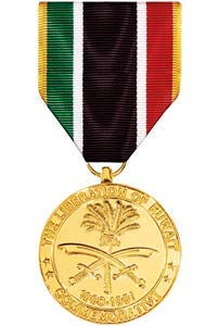 - Medals of America Liberation of Kuwait Commemorative Medal Anodized
