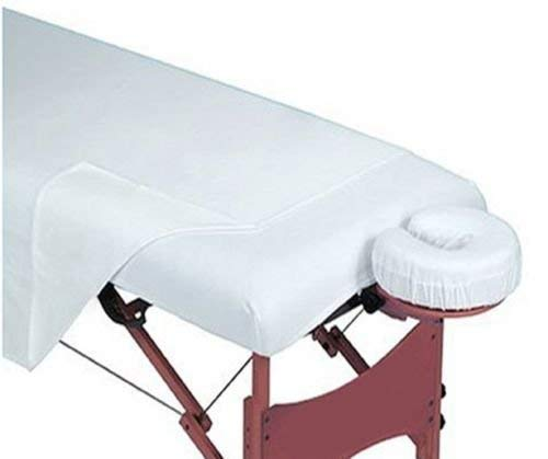 - OMNI LINENS 12 New White Massage Table Flat Draw Sheet Muslin T130 54x80