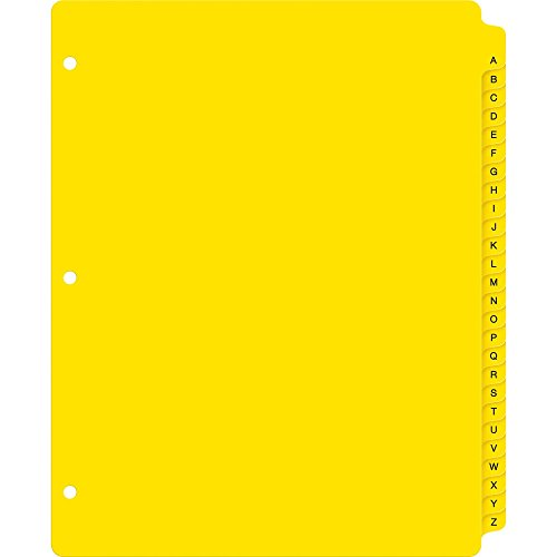Avery Heavy-Duty Plastic Industrial Dividers, 26 A-Z Tabs, Yellow (23081)