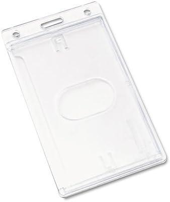 3 Vertical Hard Plastic ID Badge Holder ID Badge Card HolderTransparent TW