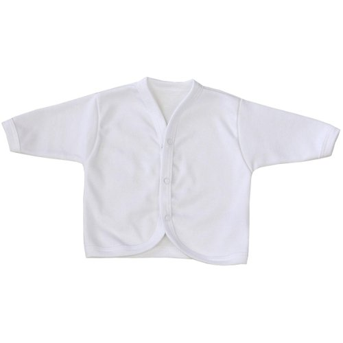 (BabyPrem Baby Cardigan Jacket Cotton Clothes Premature - 6 months WHITE PREM 3)