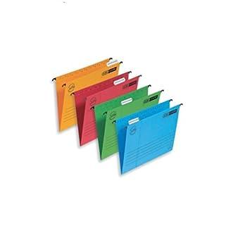 Elba - Archivadores colgantes para cajonera (5 unidades), colores surtidos