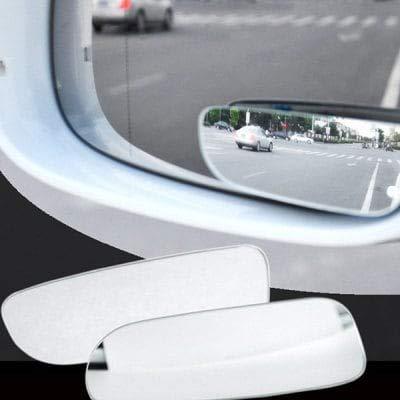 Espejo De Punto Ciego Con Vista Posterior De /Ángulo Amplio Para Autom/óviles ExcLent Con 360 Grados De Ajuste 2 Piezas Banda Transparente
