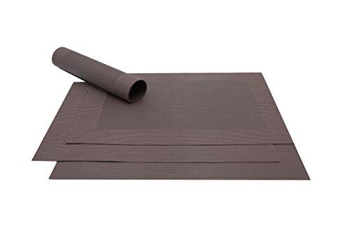 ZOLLNER® 4er-Set hochwertige Tischsets / Platzset braun 32x47 cm, in verschiedenen Farben erhältlich, vom Hotelwäschespezialist, Serie