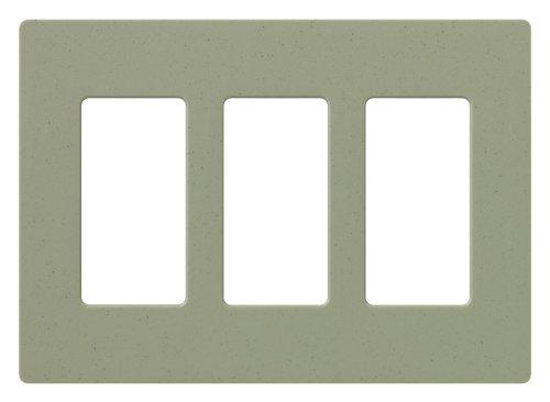 (Lutron SC-3-GB Claro Three-gang Wallplate Greenbriar )