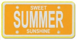 Summer Mini License Plate for Scrapbooking (01759)