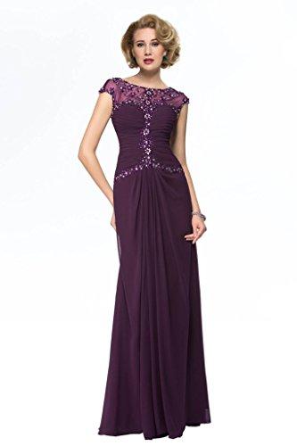 Sisjuly Women's Sweetheart Beaded Chiffon Mother of Bride Dress 18 Plus Purple (Cinderalla Dress)
