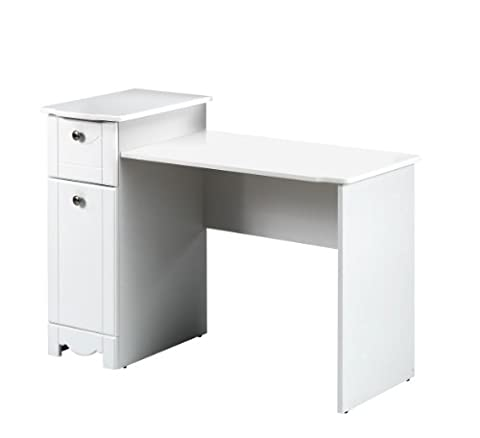 Dixie Desk / Vanity 310803 from Nexera, White - Juvenile Kids Table
