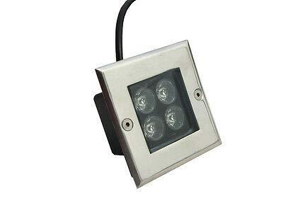 - FidgetKute 5 x 4w LED Inground Light Square Path Landscape Underground Lamp Warm White