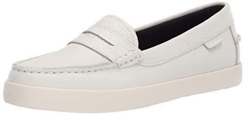 Cole Haan Women's Nantucket Loafer Shoe, White, 9 B US