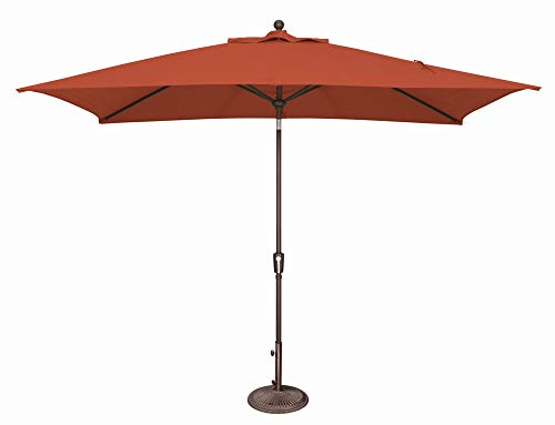 "SimplyShade SSUM92-6X10RT00-D3515 Catalina 10"" Wide Open Solefin Market Umbrella with Two Way Tilt"