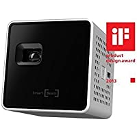 SK UO Smart Beam Portable Mini Projector, compatible with iOS/Android (1.77-inch, Silver w/Accessory Package)