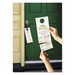Avery Door Hanger w/Tear-Away Cards, 4 1/4 x 11, Matte White, 10/Sheet 40 Sheets/Pack
