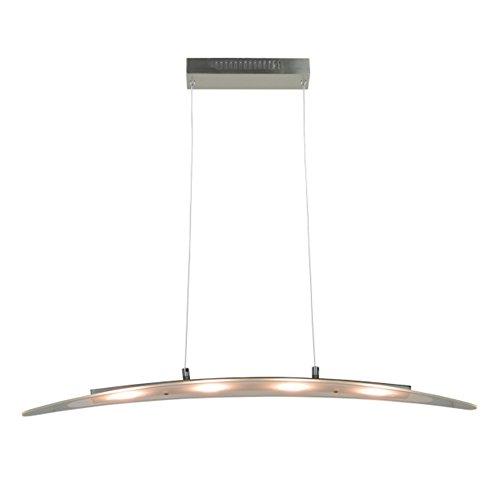 Light ModernSatin Nickel Finished Chandelier Ceiling Fixture With Adjustable Wire For Kitchen Dining Room Bar Living 4LEDs 3000K 1440Lm