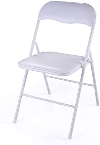 JAXSUNNY WHITE PLASTIC FOLDING CHAIR FOR WEDDING COMMERCIAL EVENTS STACKABLE FOLDING CHAIRS WITH PADDED CUSHION SEAT(5 PACK),18.8 X 17.3 X 30 INCHES