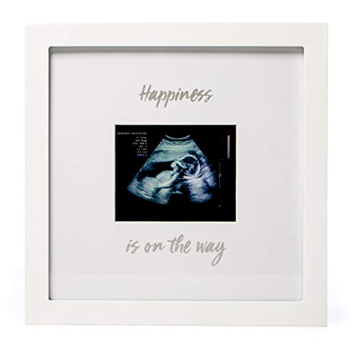 1Dino Happiness is on The Way! Pregnancy Announcement Sonogram Keepsake Picture Frame - Large 10
